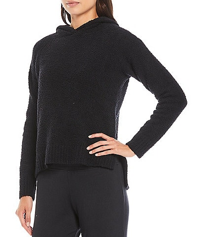 UGG Louise Fluffy Knit Long Sleeve Hooded Lounge Sweater
