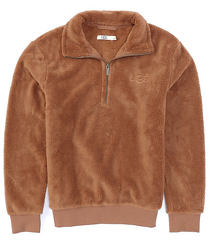 UGG® Loungewear Zeke Faux-Sherpa Long-Sleeve Half-Zip Pullover