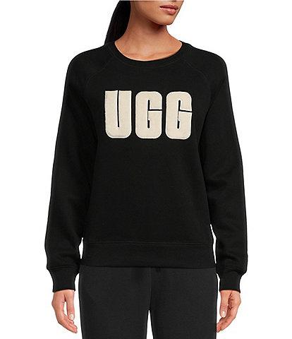 UGG® Madeline Fuzzy Logo Long Sleeve Lounge Sweatshirt