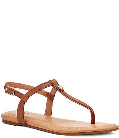 UGG® Madenna Leather Flat Sandals