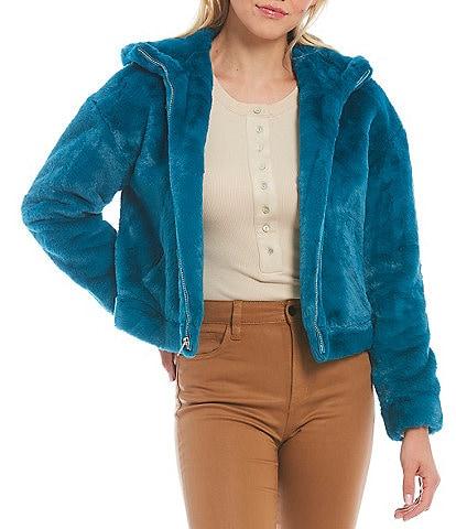 UGG® Mandy Faux Fur Fleece Lined Hoodie Cozy Jacket
