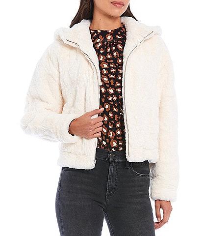 UGG Mandy Faux Fur Fleece Lined Hoodie Jacket