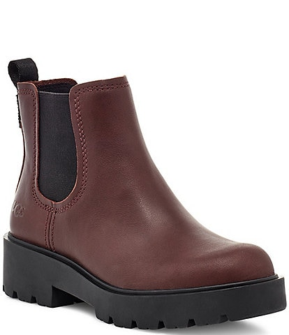 UGG® Markstrum Waterproof Leather Lug Sole Block Heel Chelsea Boots
