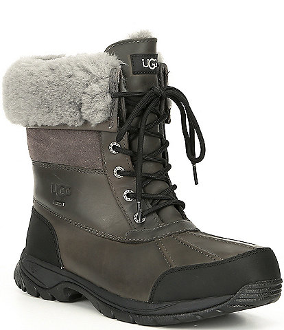 UGG Men's Butte Waterproof Leather Winter Boots