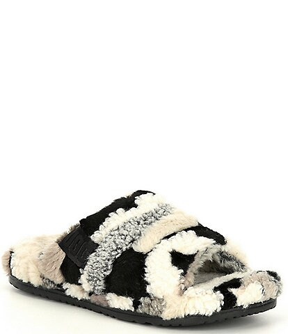 UGG® Men's Fluff You Cali Collage Faux Shearling Slippers