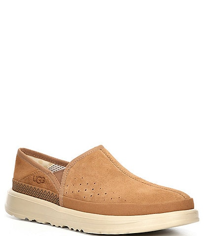 UGG® Men's Kick It Perforated Suede Slip-On Slippers