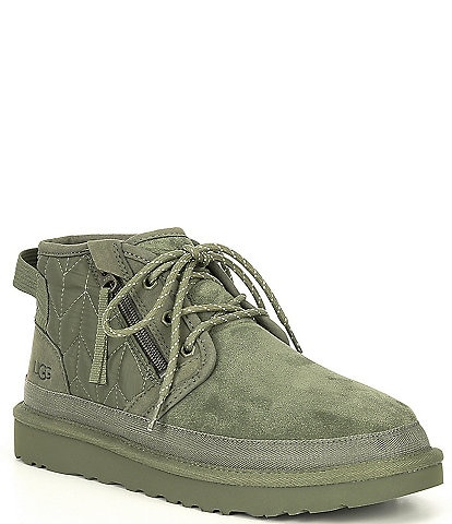 UGG® Men's Neumel Zip Lace-Up Detail Suede Military Quilted Boots