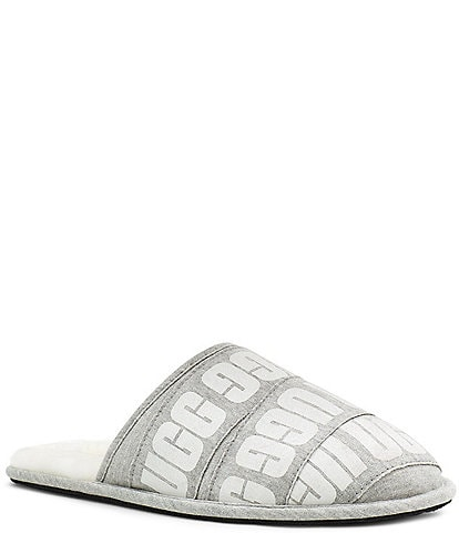 UGG® Men's Scuff Graphic Band Slippers