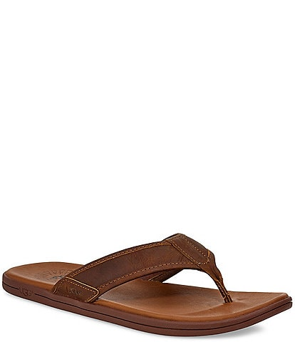 UGG® Men's Seaside Leather Flip Flops