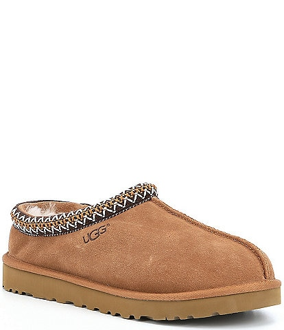 UGG® Men's Tasman Braid Accent Suede Slippers