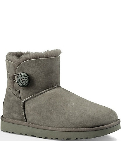 UGG® Mini Bailey Button II Suede Booties