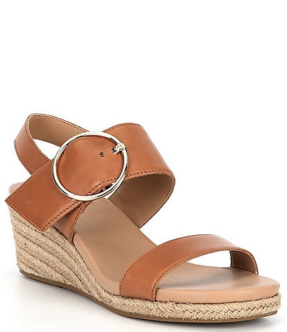 UGG® Navee Leather Espadrille Wedge Sandals