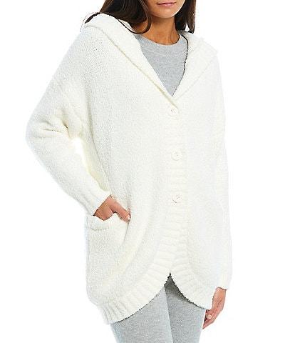 UGG® Oversized Hood Long Sleeve Ribbed Franca Travel Cardigan