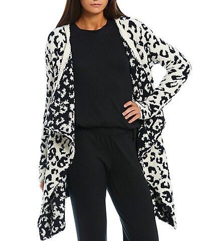 UGG Phoebe Leopard Knit Long Sleeve Wrap Cardigan