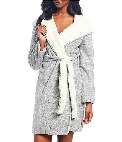 UGG Portola Reversible Jersey Hoodie Long Wrap Robe