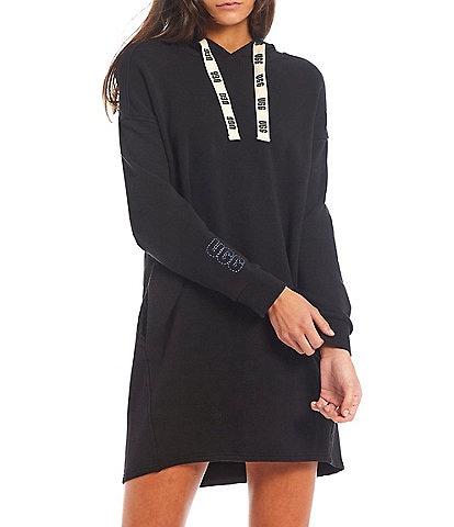UGG® Ribbed Cuff Crew Neck Long Sleeve Aderyn Hoodie Dress