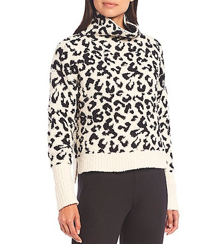 UGG Sage Sweater-Knit Leopard Print Lounge Top