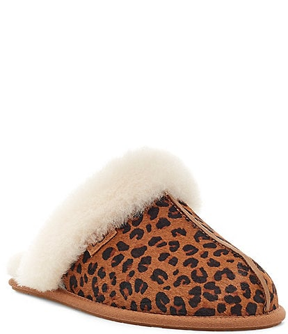UGG® Scuffette II Leopard Calf Hair Slippers