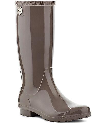 UGG® Women's Shaye Rubber Shearling Lined Glossed Waterproof Rain Boots