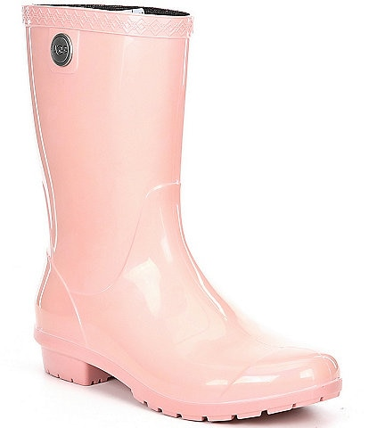 UGG® Sienna Rubber Shearling Lined Glossed Waterproof Rain Boots