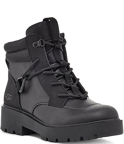 UGG® Tioga Waterproof Lace-Up Leather Block Heel Hikers
