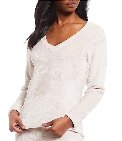 UGG Top Daisy Fleece Lounge Cotton Blend Top