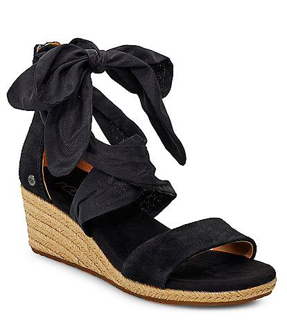 UGG® Trina Suede Espadrille Wedge Sandals