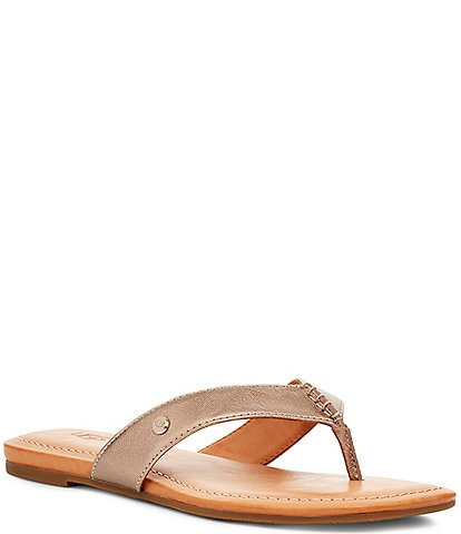 UGG® Tuolumne Leather Flip Flops