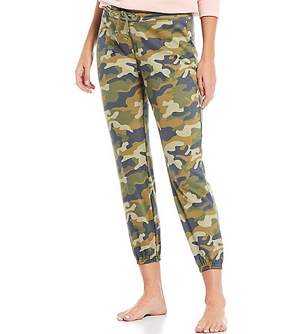 UGG Valentene Camouflaged Print Fleece Lounge Jogger Pants