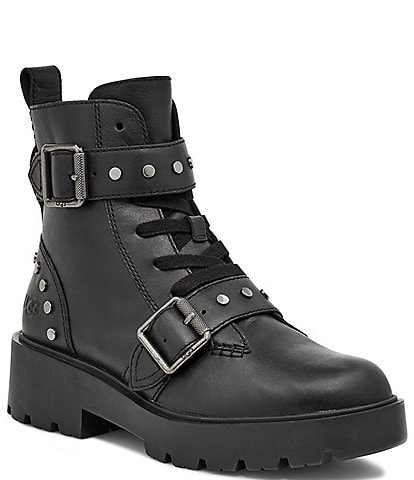 UGG® Zorrah Studs Leather Buckle Strap Booties