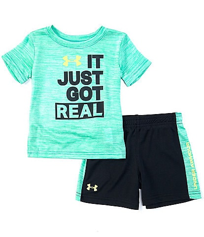 Under Armour Baby Boy 12-24 Month Short Sleeve UA It Just Got Real Tee & Short Set