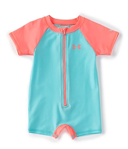 Under Armour Baby Girl Newborn-24 Months Colorblock UPF Swim Sunsuit