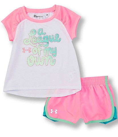 Under Armour Baby Girls 12-24 Months Short-Sleeve League Of My Own Tee & Shorts Set