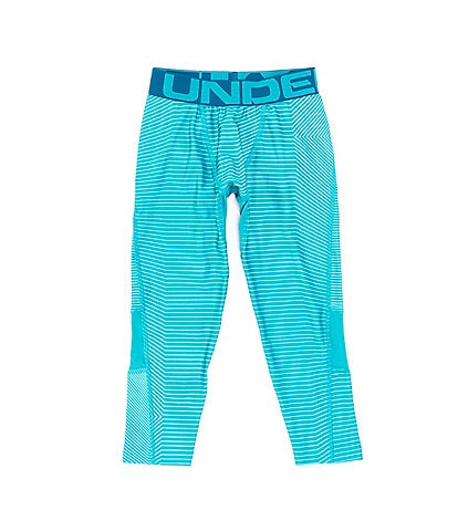 Under Armour Big Boys 8-20 Armour HeatGear 3/4 Linear Print Leggings