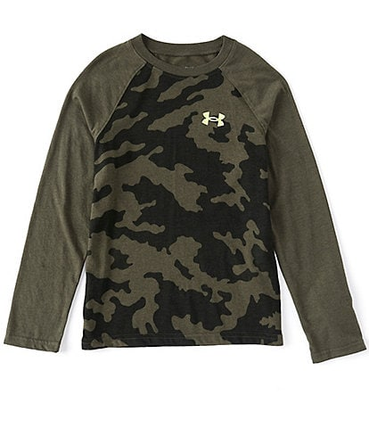 Under Armour Big Boys 8-20 Long-Sleeve Fury Camo Raglan Tee
