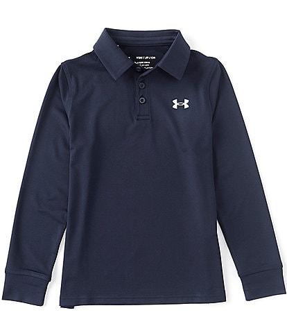 Under Armour Big Boys 8-20 Long-Sleeve Playoff Polo Shirt