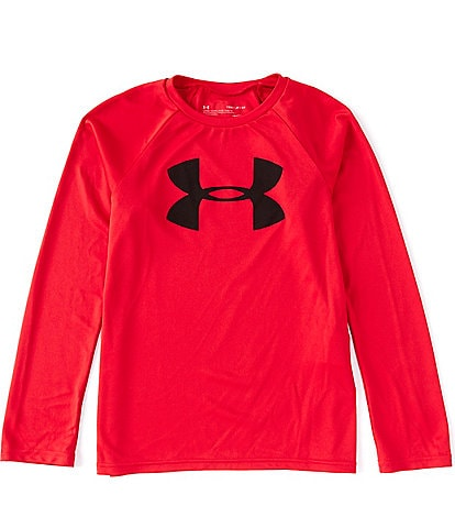 Under Armour Big Boys 8-20 Long-Sleeve Tech Big Logo Raglan Tee