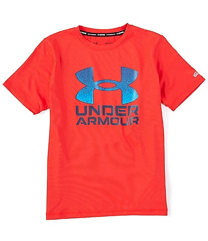 Under Armour Big Boys 8-20 Short-Sleeve Gradient-Fill Surf Rashguard