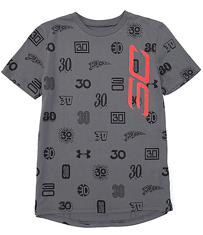 Under Armour Big Boys 8-20 Short Sleeve SC30 All Over Print Tee