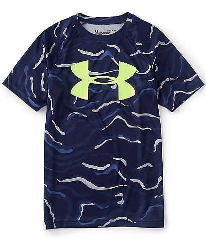 Under Armour Big Boys 8-20 Short Sleeve Tech Big Logo Printed Tee