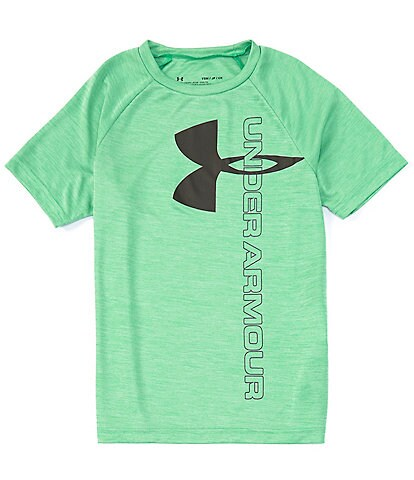 Under Armour Big Boys 8-20 Short Sleeve Tech Split Big Logo Hybrid Tee
