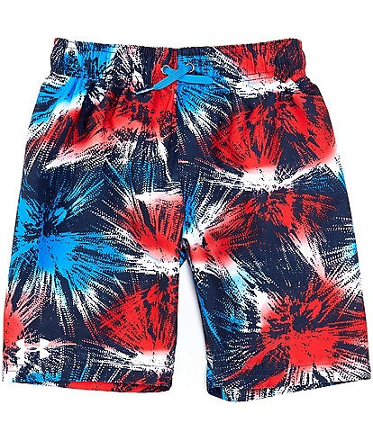 Under Armour Big Boys 8-20 UA Americana Fireworks Volley Swim Shorts