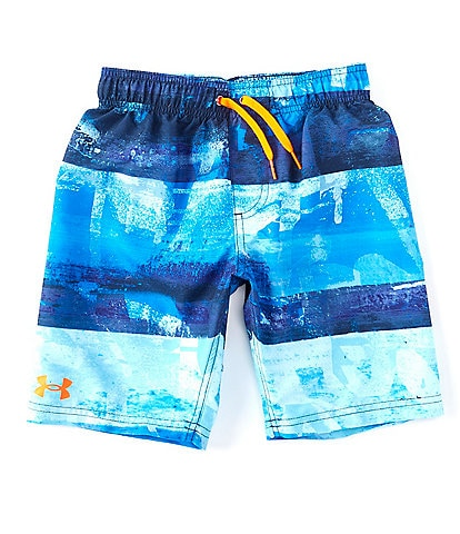 Under Armour Big Boys 8-20 UA Graphic Striped Volley Swim Board Shorts