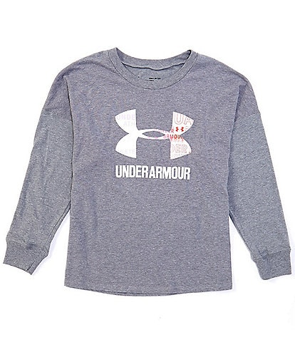 Under Armour Big Girls 7-16 Long-Sleeve Boundless Logo Tee