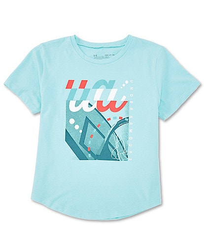 Under Armour Big Girls 7-16 Short-Sleeve Branded Graphic Tee