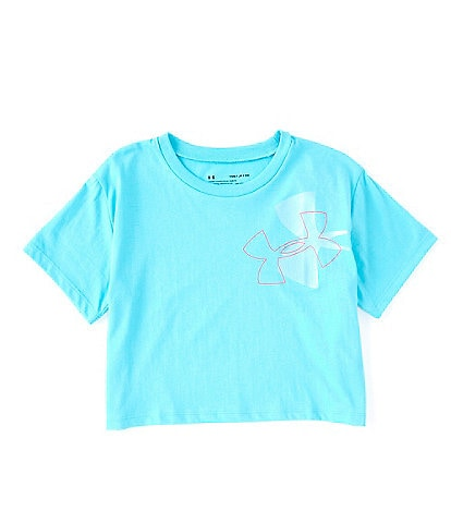 Under Armour Big Girls 7-16 Short-Sleeve Branded Logo Tilt Tee
