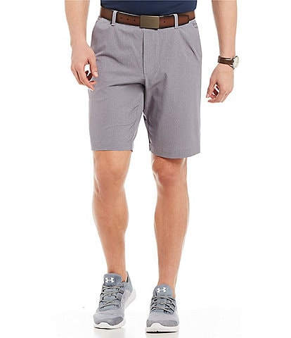 Under Armour Flat-Front Vented Showdown 10#double; Inseam Athletic Shorts
