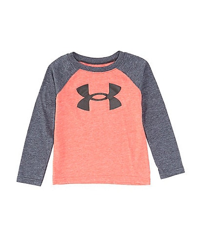 Under Armour Little Boys 2T-7 Long-Sleeve Big Logo Bi-Blend Raglan Tee
