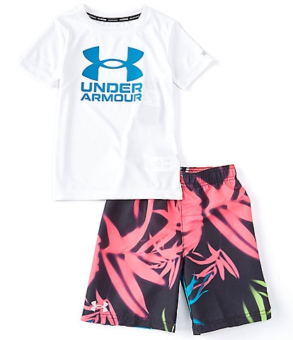 Under Armour Little Boys 2T-7 Palm Camo 2-Piece Swim Set