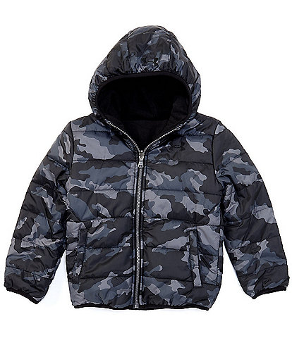Under Armour Little Boys 2T-7 Printed Reversible Ponto Puffer Jacket